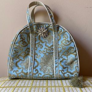 Vintage 1960s Tapestry Tassel Handbag